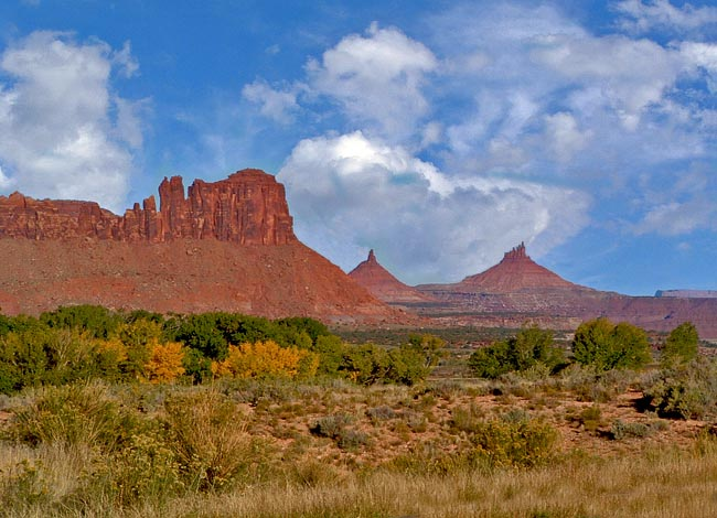 Bridger Jack Mesa and Six Shooter Peaks - Squaw Flat Scenic Byway, Monticello, Utah