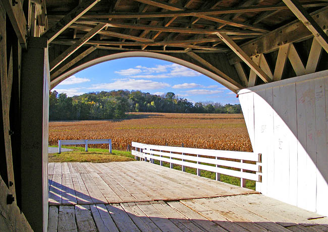 View from the Hogback Covered Bridge - Madison County, Iowa