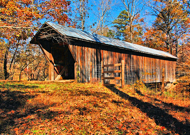 Bunker Hill Covered Bridge - Connor Park, Claremont, North Carolina