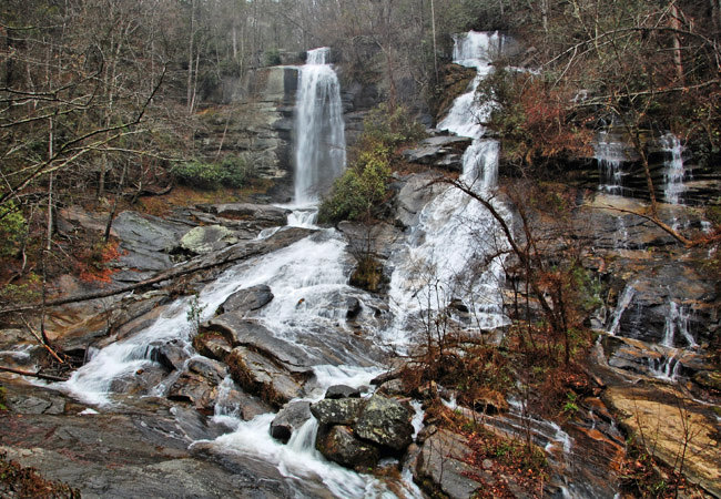 Twin Falls (Reedy Cove Falls) -  Jocassee Gorges Management Area, South Carolina