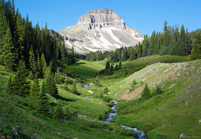 Uncompahgre Peak and Big Blue Creek - Uncompahgre Wilderness, Lake City, Colorado