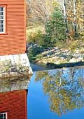 Mill Pond Reflection - Old Mill Museum, Weston, Vermont