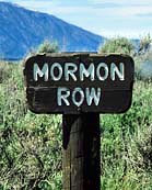 Mormon Row Park Sign - Grand Teton National Park, Wyoming