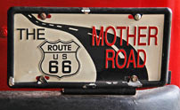Mother Road Licence Plate