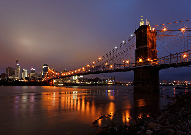 John A. Roebling Bridge - Covington, Kentucky and Cincinati, Ohio