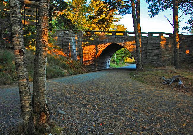 Carriage Road and Bridge image - Acadia National Park, Maine