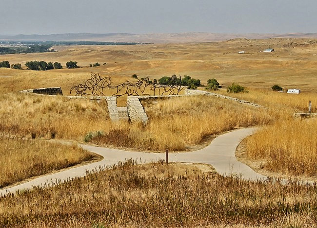 Spirit Gate Memorial on Last Stand Hill - Little Bighorn Battlefield National Monument, Montana