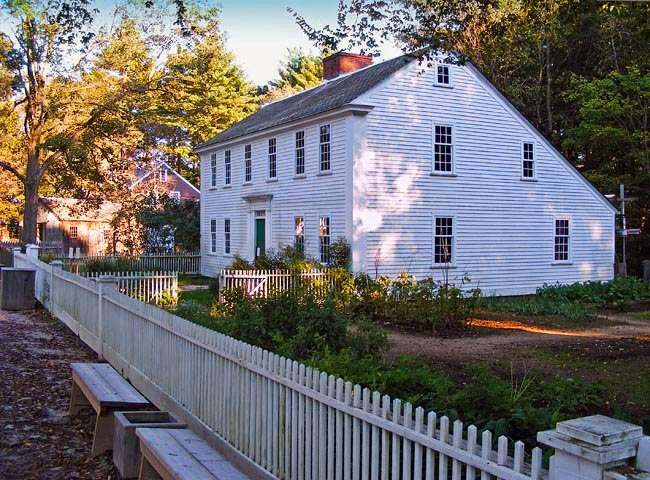Old Sturbridge Village Parsonage - This mid-18th-century house is interpreted as the home of a Congregational minister and his family - Massachusetts