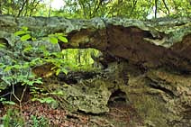 Natural Bridge at Pivot Rock - Eureka Springs, Arkansas