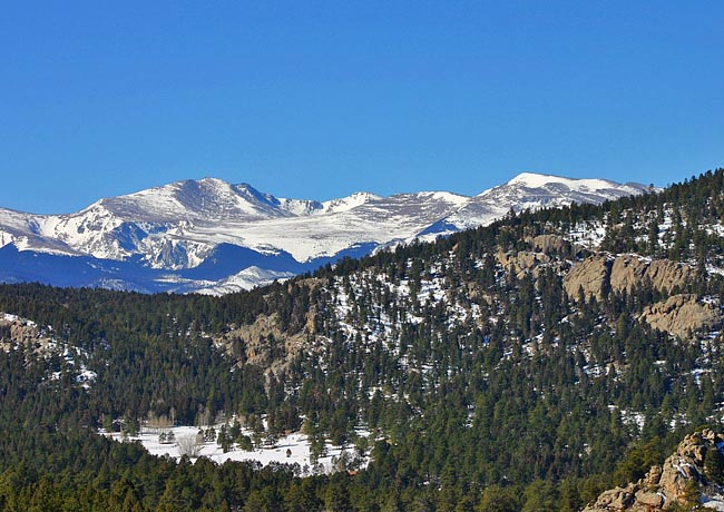 Mount Evans from Brother's Lookout - Three Sisters Park, Evergreen, Colorado