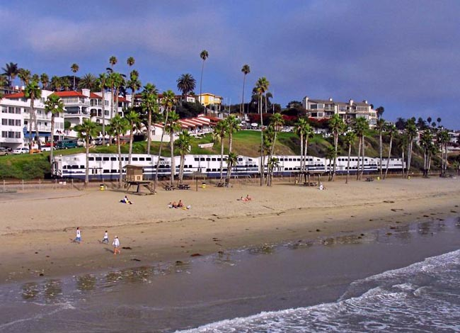 Pacific Surfliner at San Clemente, California
