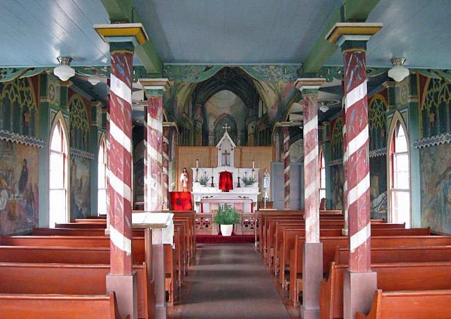 St. Benedict's Catholic Church (The Painted Church) - Captain Cook, Hawaii