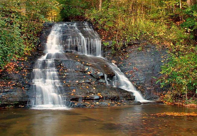Wildcat Branch Falls - Wildcat Wayside, Mountain Bridge Wilderness Area, SC