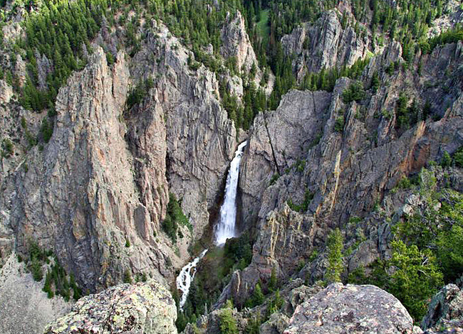 Bucking Mule Falls - Medicine Wheel Passage, Bighorn National Forest, WY