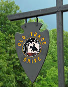 Old Trace Road Sign - Natchez Trace Parkway, TN