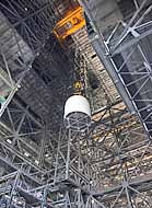 Orion Spacecraft Lift - Vehicle Assembly Building, KSC, Florida