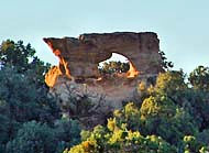 Outcrop Arch - Aztec, New Mexico