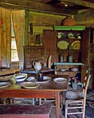 Typical 19th century pioneer home interior