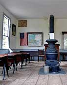 Bunker Hill School House interior -  Red Mill Museum Village, Clinton, New Jersey