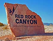 Welcome Sign - Red Rock Canyon National Conservation Area, Nevada