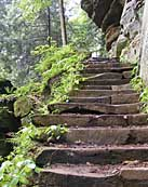 Rock House Stone Stairs - Hocking Hills State Park, Laurelville, Ohio
