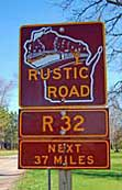 Rustic Road R 32 Sign Post