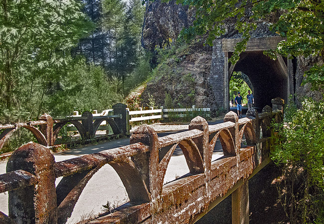 Oneonta Gorge Bridge and Tunnel - Columbia River Highway State Trail, OR