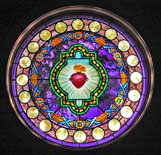 Sacred Heart Stained Glass - Chapel of the Sacred Heart, Grand Tetons National Park
