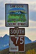 Byway Sign - Sawtooth Scenic Byway, Idaho