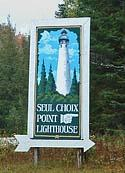 Seul Choix Point Lighthouse Entrance Sign - Gulliver, Michigan