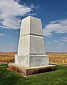 Seventh Calvary Memorial - Last Stand Hill, Little Bighorn Battlefield National Monument, Montana
