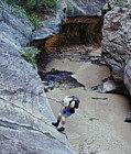 Using Rappel Skills - The Subway, Zion National park, Utah