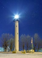 Summersville Lake Lighthouse at Night - Mount Nebo, West Virginia