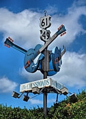 The Crossroads Signpost - State St and Desoto Ave, Clarksdale, MS