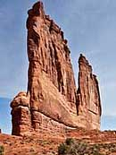 Courthouse Towers oblique view - Arches National Park, Moab, Utah