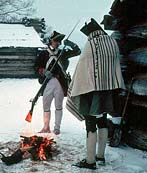 Valley Forge Soldiers and their winter camp