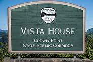 Vista House Sign - Columbia River Gorge, OR