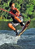 Teen on a wakeboard