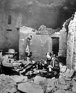 Wetherills at the Spruce Tree House in 1891 - Mesa Verde National Park, Cortez, Colorado