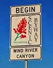 Wind River Scenic Byway Sign